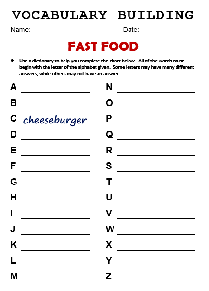 writing opinion essays fast food